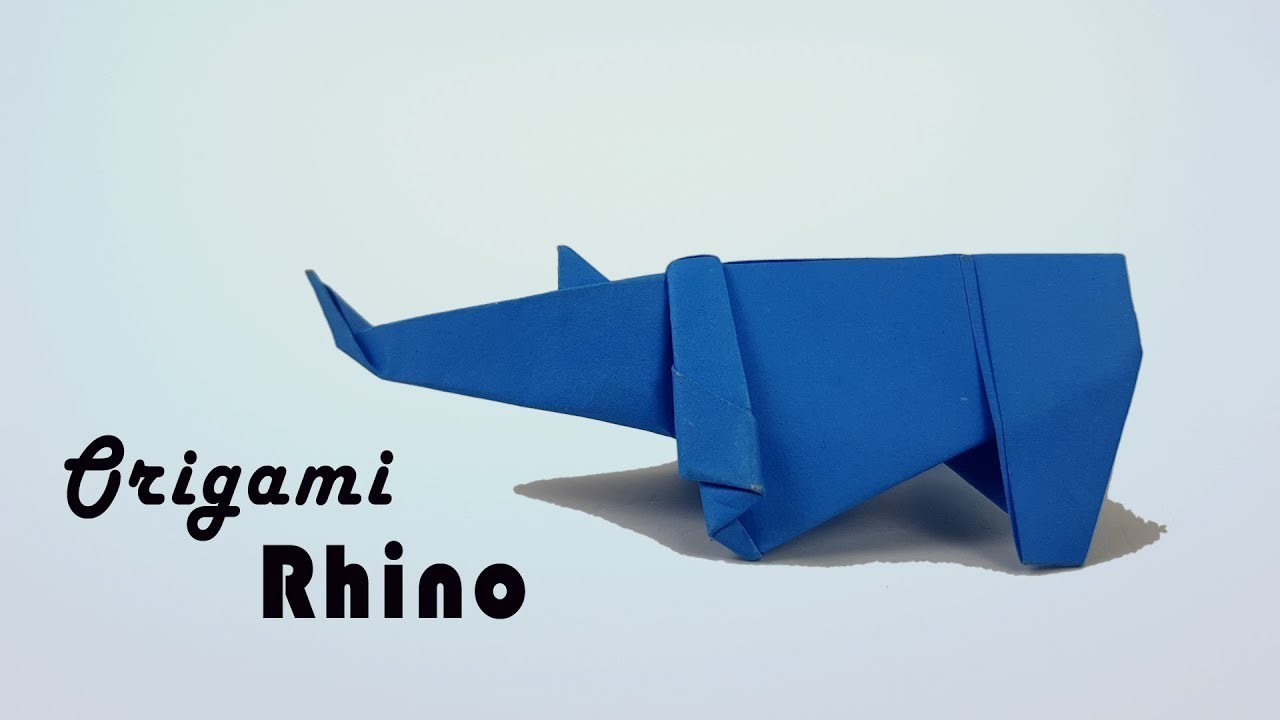 Paper How To Make An Origami Rhino Origami Rhinoceros Paper