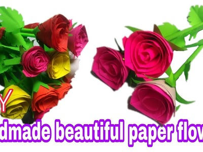 Rose how to make realistic paper roses bouquet tutorial quick how to make awesome paper rose diy paper flowers 2017 mightylinksfo