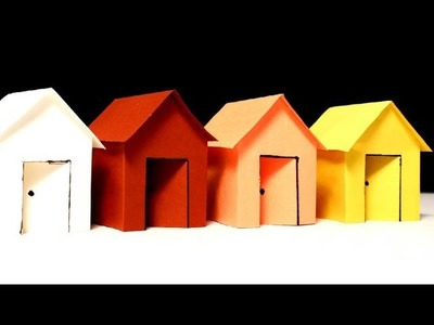 How to Make Colour Paper House(Very Beautiful)