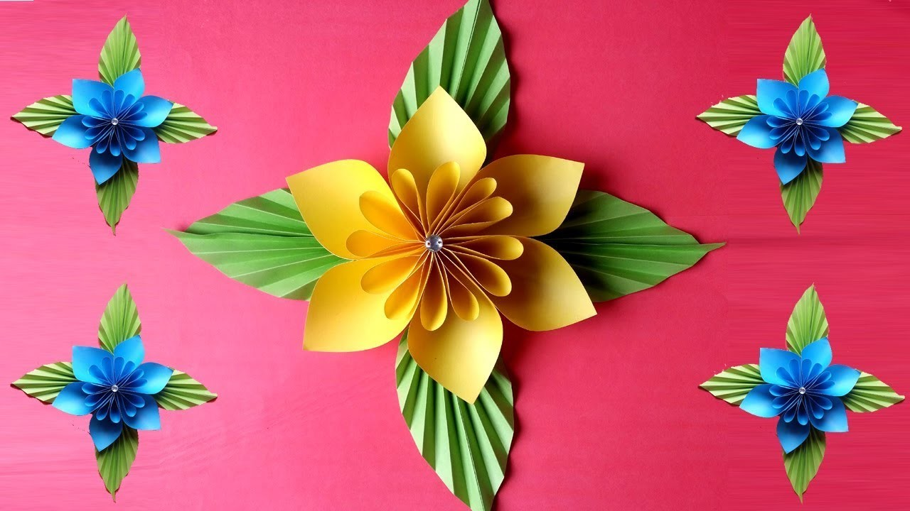 How To Make Easy & Beautiful  Paper Flower !!!