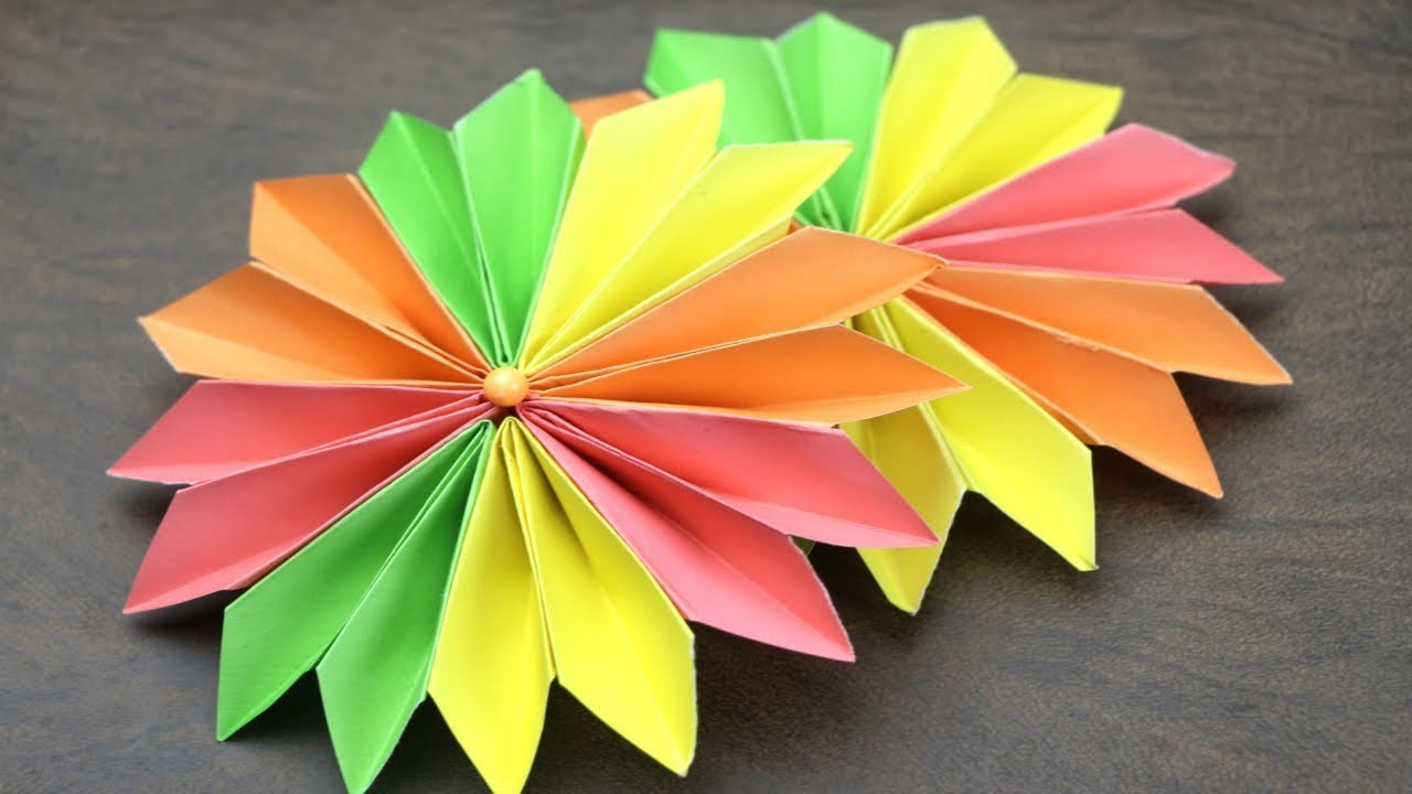 Easy Flower Making With Paper Step By Step Flowers Healthy