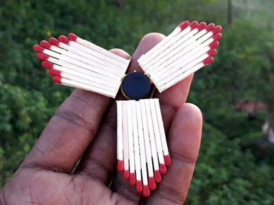 How to make fidget spinner out of matches.amazing matchstick fidget spinner