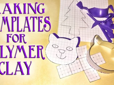 How To Make Flat Paper Templates For Polymer Clay