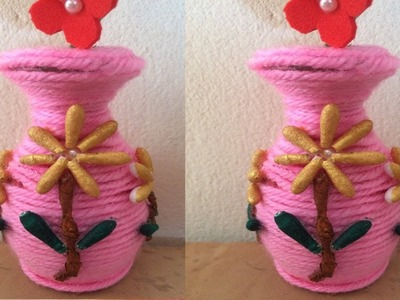 How to make  flower vase at home.