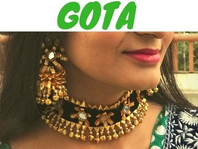 How to Make Gota Choker Set | DIY Gota Jewellery - Live Creative