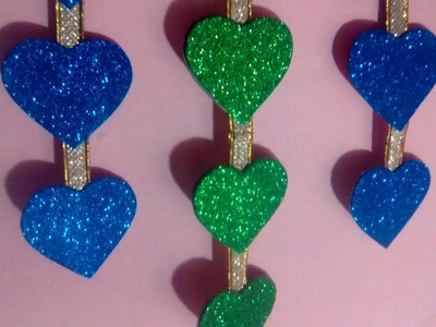 How to make heart wall hanging. Glitter Paper Design
