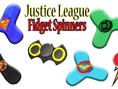 How To Make Justice League Fidget Spinner Toys (Batman, Flash, Wonder Woman, Aquaman, Superman) #DIY