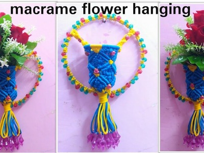 How to make macrame Flower wall hanging unique design.