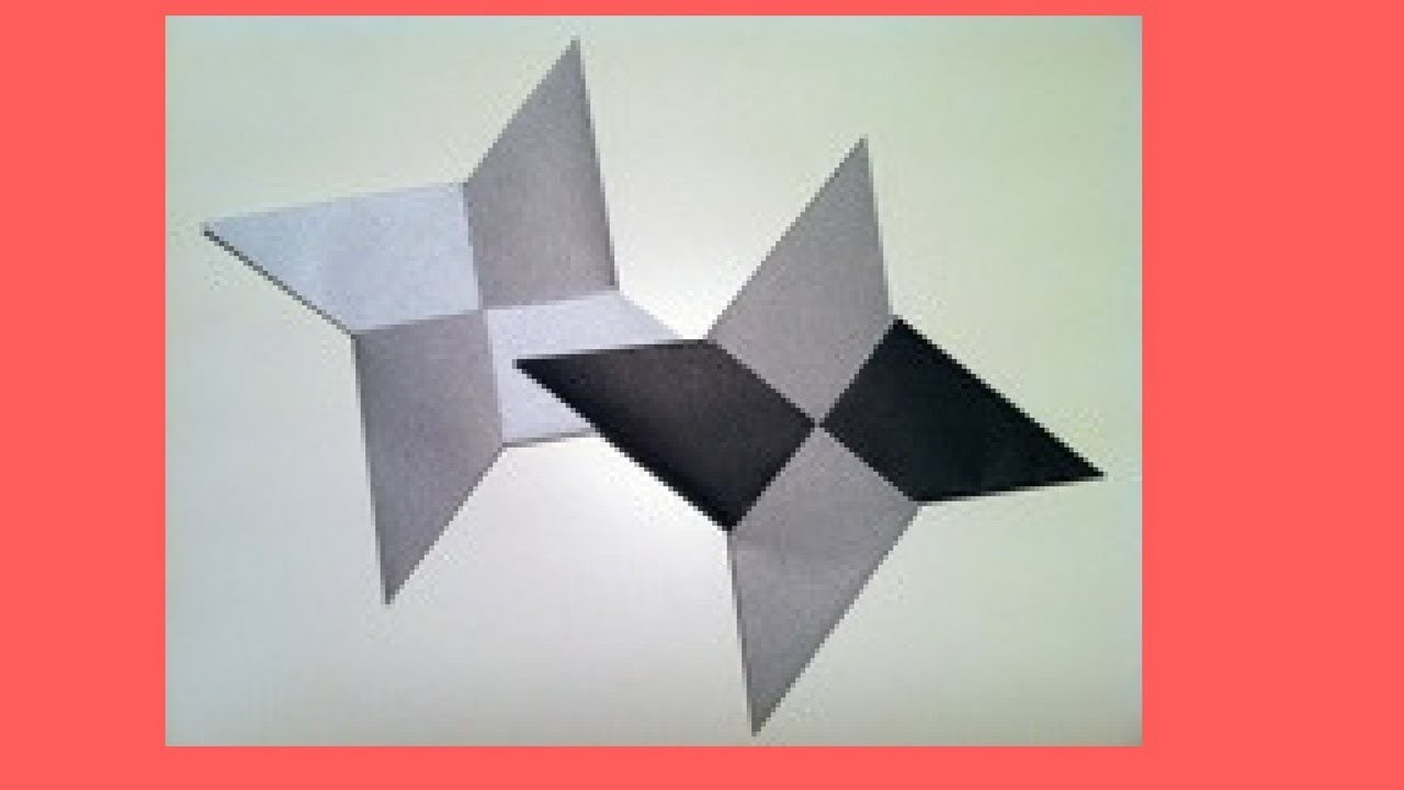 Star how to make ninja star with paper how to make a 3d for How to make 3d paper stars easy