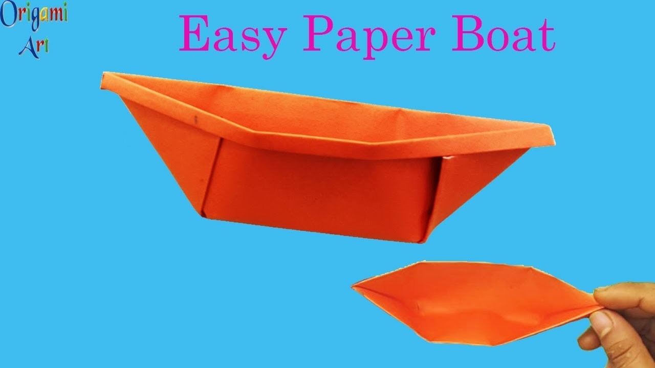 how to make paper boat easy origami boat simple crafts for