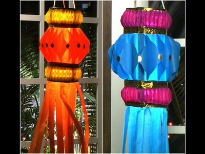 How To Make Paper Lanterns At Home