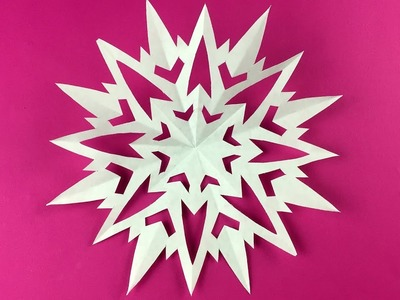 How to make Paper Snowflake ❄ №16 ❄ for Christmas and New Year Detailed tutorial DIY