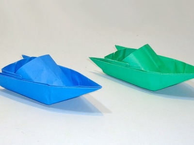 How to Make PAPER SPEED BOAT That Floats On Water   Origami Boat Step by Step
