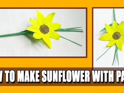 How to make paper sunflower step by step flowers healthy how to make paper sunflower step by step paper sunflower paper how to make paper tree origami tree mightylinksfo