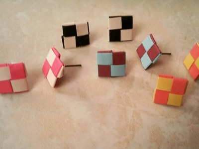 How to make paper weaving earrings