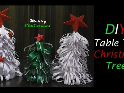 How to make tabletop Christmas tree from paper | DIY  Christmas Crafts | White Christmas tree