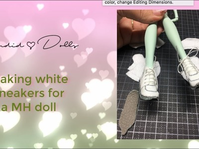 How to make white sneakers for Monster High doll