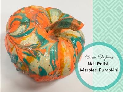 How to Nail Polish Marble a Pumpkin