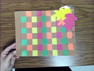 How to Weave Paper Placemat