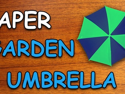 Learn How To Make Garden Umbrella Using Paper | Origami For Kids | Periwinkle