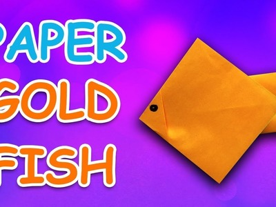Learn How To Make Gold Fish Using Paper   Origami For Kids   Periwinkle