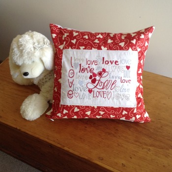 Love words cushion cover