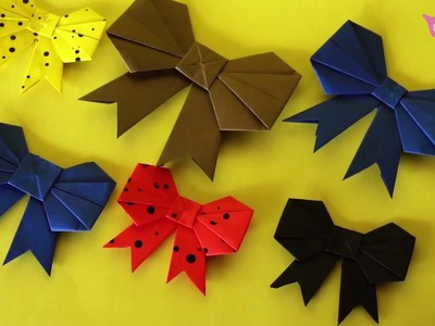 Make Bow From Paper DIY Crafts Ideas By Tub