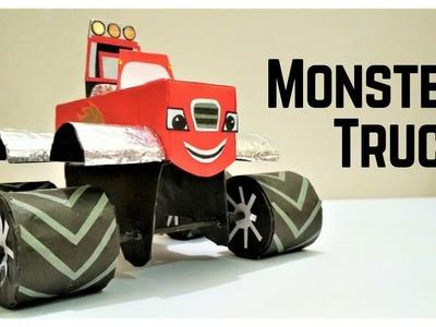 Monster Truck Dan, How To Make A Paper Monster Truck, DIY Monster Truck, Paper Monster Hearse