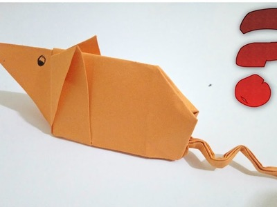 Origami Cute Mouse - How to make video