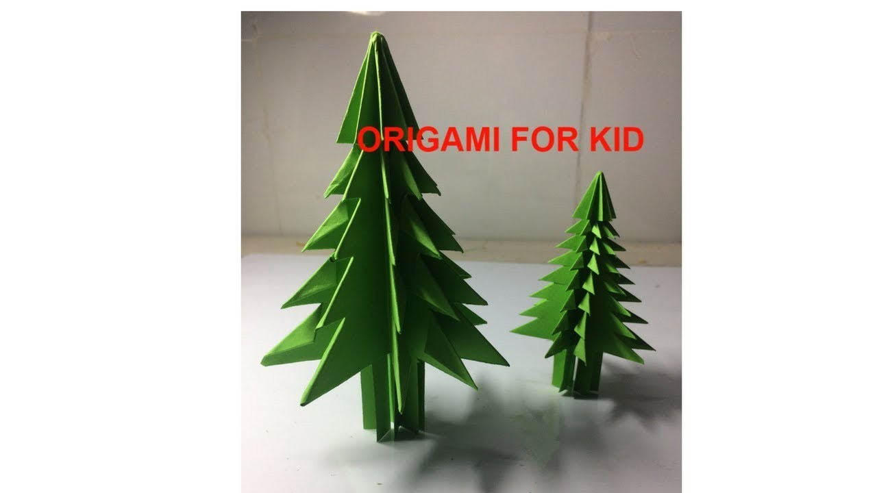 origami for kid how make a very easy christmas paper tree