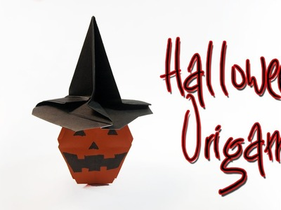 Origami Halloween  | How To Make A Paper Pumpkin | Jack O' Lantern