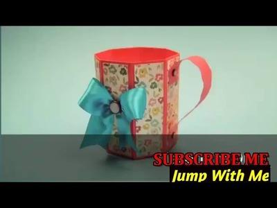 Paper Art - Paper Mug - paper Arts & Crafts.How to make Paper mug
