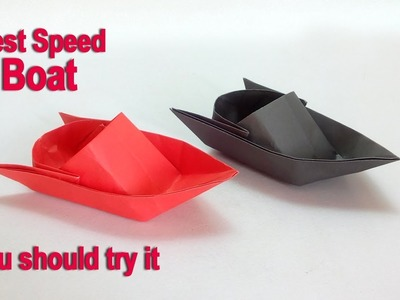 Paper boat   How to make a paper speed boat – DIY easy origami paper boat making instructions