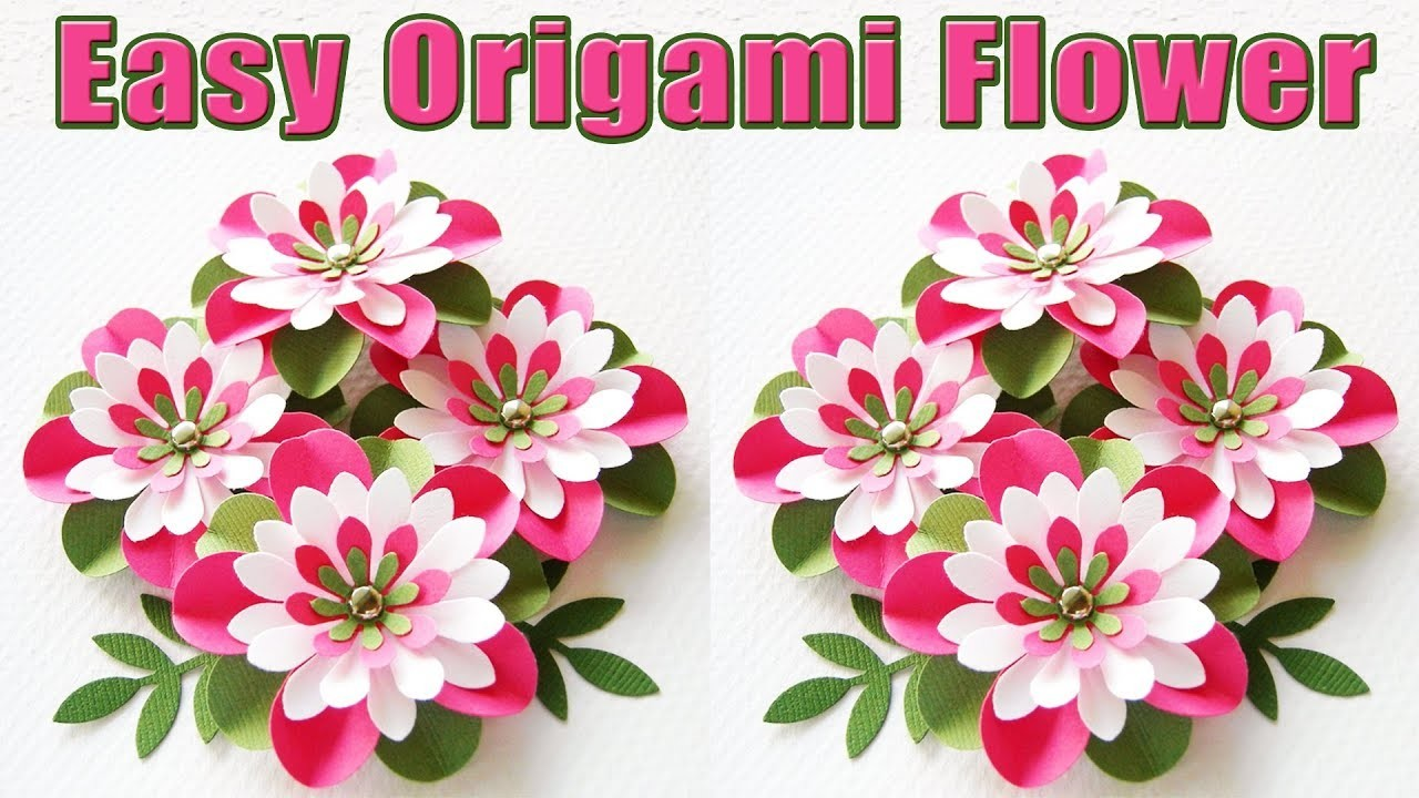 Paper Flowers Easy How To Make A Paper Flowers Easy Origami Paper