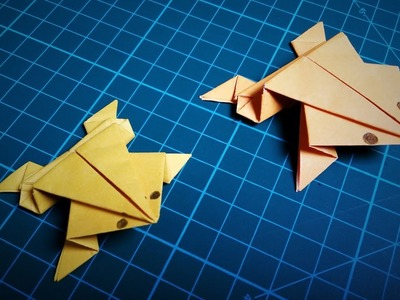 Paper Frog   How To Make an Origami Frog That Jumps