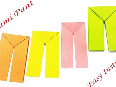 Paper Pant Easy Instruction - How To Make Origami Pants | Best & Simple Pant Making Tutorial