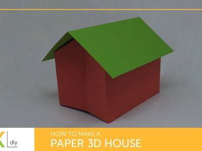 Pop up #1 - How to make a paper 3D house