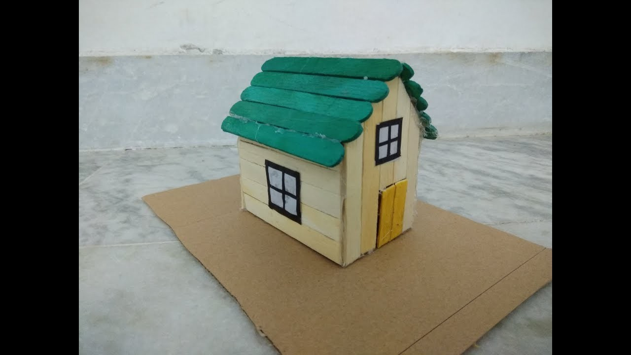 Popsicle sticks house how to make modern popsicle for Easiest way to build a house
