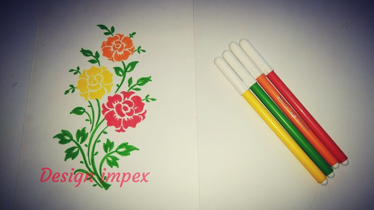 Project File Pages Decoration Floral Design Drawing How To