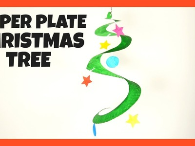 Swirling Paper Plate Christmas Tree - fun Christmas crafts for kids