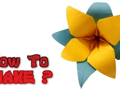 Very Easy - How To Make Origami  Flower