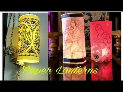 Very Easy Paper lanterns|    Christmas Home Decor Ideas
