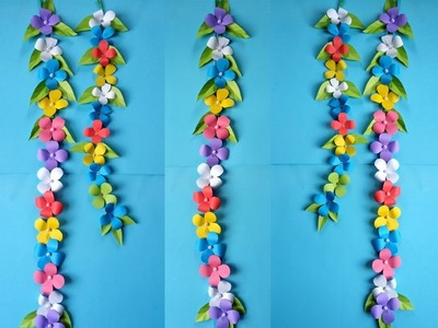 Wall Decoration Idea !!! How to Make Most Beautiful  Flower Trailer !!!!
