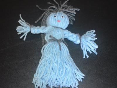 Woolen Doll   Yarn Doll   How to make doll using Wollen