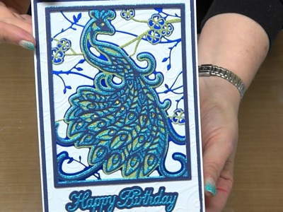 #222 Die Cut & Glitter with Adhesive Foil Paper & Simply Defined Dies by Scrapbooking Made Simple