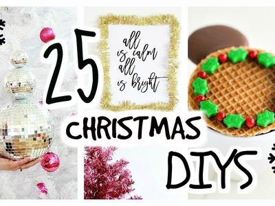 25 DIY Christmas Decor Ideas & Treats. Crafts, Decorations, Recipes, Food