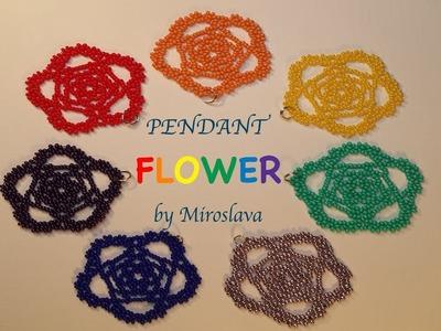 26: Beading DIY FLOWER Pendant! Great for Beginners!!!