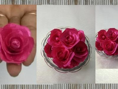35. DIY rose flower for haldi jewellery. how to make ribbon rose flower