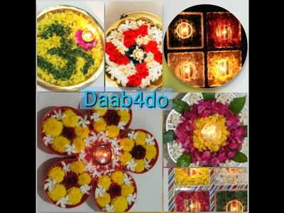 5 DIY with floating, water Diyas and fresh flowers For Diwali || Diwali home decor and diyas||
