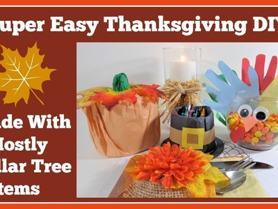 5 Super???? Easy Dollar Tree???? Thanksgiving DIY's????